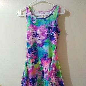 Girls Size 16 Bright Floral Dress by Justice